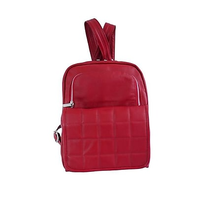 Piel Leather Ladies Quilted Leather Backpack, Red(PIEL1953)