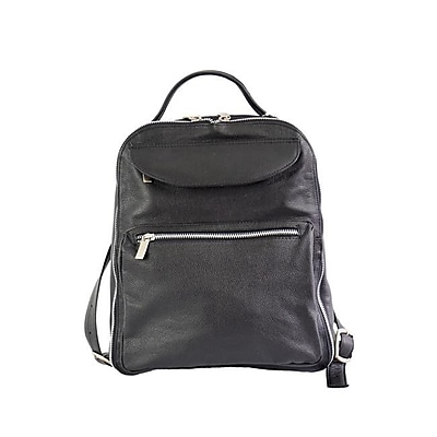 Piel Leather Ladies Front Pocket Leather Backpack,