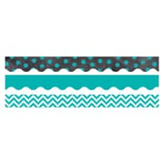 Creative Teaching Press CTP8927, Trendy Turquoise Matching Border Pack