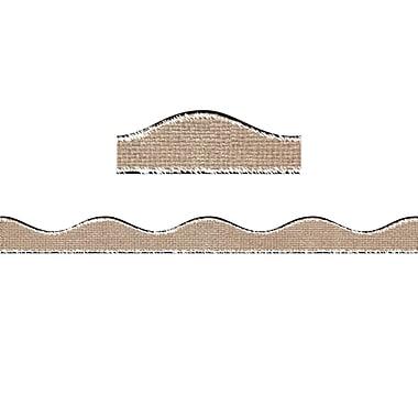 Ashley®12' Magnetic Border, Burlap Scribble, 12/Pack (ASH11408)