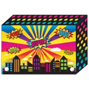 Super City Index Card Boxes 4x6IN Decorated Poly, 6/set (ASH90400)