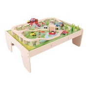 Bigjigs Toys, Train Set & Table, Ages 3+ (BJT040)