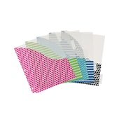 Avery Bit Tab 5 Tab Pocket Insertable Plastic Dividers Set, set of 6, with 5 folders/pack, Assorted (AVE07708)