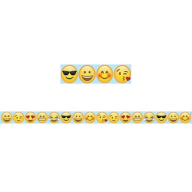 Creative Teaching Press Emoji Fun Large Magnetic Decor Strips, 12/Pack (CTP8404)