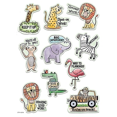 Creative Teaching Press Safari Friends Safari Rewards Stickers, 50ct per pk, bundle of 6 packs (CTP2159)