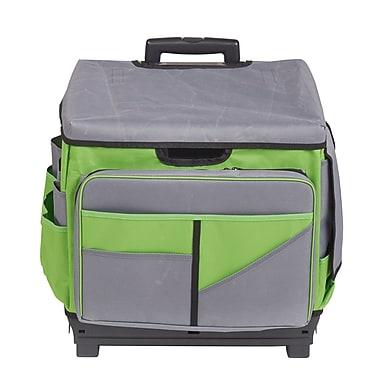 ECR4Kids Grey/Green Rolling Cart/Organizer Bag (ELR0550BGN)