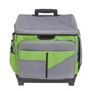 Gray/Green Roll Cart/Organizer Bag (ELR0550BGN)