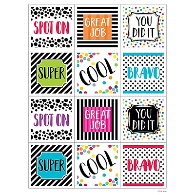 Creative Teaching Press Bold & Bright Rewards Stickers, 60ct per pk, bundle of 6 packs (CTP2160)