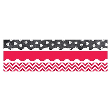 Creative Teaching Press Shades of Red and White Matching Border, 12/Set (CTP8925)