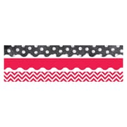 Creative Teaching Press CTP8925, Shades of Red & White Matching Border Pack