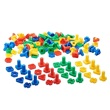 ECR4kids Twist and Locks Nuts and Bolts, Assorted, 4/Set (ELR19206)