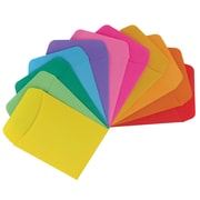 Hygloss Bright Library Pockets, Assorted Colours (HYG15631)