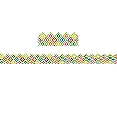 Eureka Extra Wide Deco Trim, A Sharp Bunch Diamond Pattern, 12/Pack (EU-845628)
