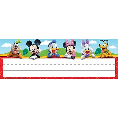 Eureka Mickey Mouse Clubhouse® Self-Adhesive Name Plates, 6 Packs, 36/Pack (EU-833003)
