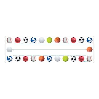 Hygloss Sports Balls Name Plates, 6 Packs, 36/Pack (HYG45416)