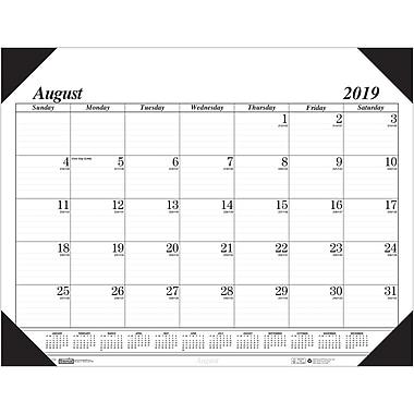 House of Doolittle - Sous-main académique économique 17 mois août-déc, 22 x 17 po, blanc (HOD12802)