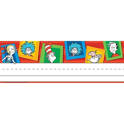 Eureka Dr. Seuss Standard Tented Name Plates, 6 Packs, 36/Pack (EU-833002)