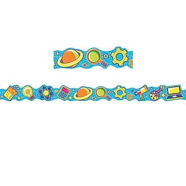 Eureka Extra Wide Deco Trim, Colour My World STEM Icons, 12/Pack (EU-845629)
