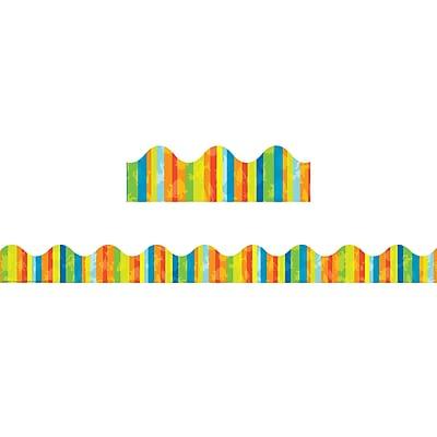 Eureka EU-845387, Dr. Seuss Fashion-Stripes Deco Trim? Extra Wide Die Cut