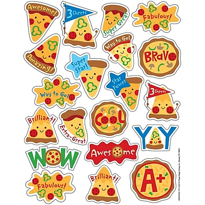 Eureka Pizza Stickers - Scented, 80ct per pk, bundle of 12 packs (EU-650934)
