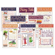 "McDonald Publishing,Literary Genres Chatter Charts 8/st, 11"" x 17"" (MC-CC3100)"