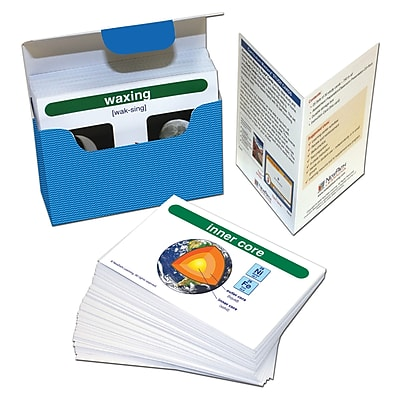 Earth Science Vocabulary Builder Flash Card Set , 201/pack (NP-446018) 23999314