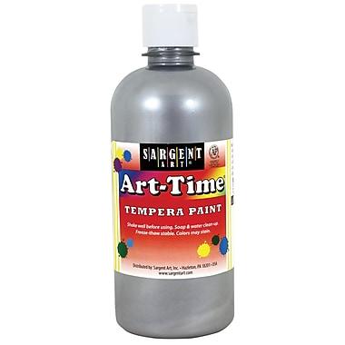 Sargent Art Art-Time Tempera Paint, 16oz, Pack of 6, Silver (SAR176482)