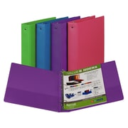 Fashion Color Binder 1/2in Capacity, Assorted, 3 Ring, SAM11699