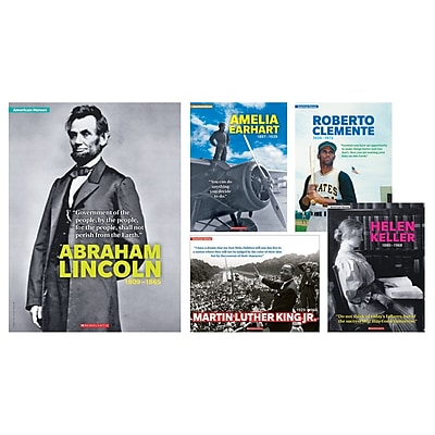 Scholastic, American Heroes 5 Piece Poster St, 24.4