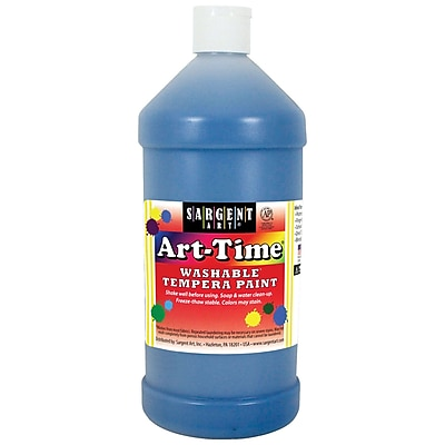 Sargent Art Art-Time Washable Tempera Paint, 32oz, Pack of 3, Turquoise (SAR173561)