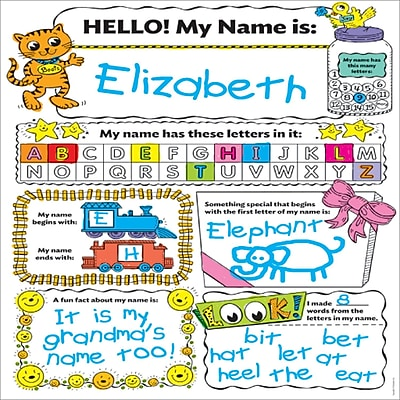 "Scholastic Personal Poster Set My Name 30/set, 9"" x 4"" (SC-553562)"