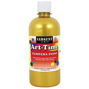 Sargent Art Art-Time Tempera Paint, 16oz, Pack of 6, Gold (SAR176481)