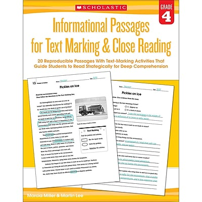 Gr 4 Informational Passages for Text Marking & Closing Reading (SC-579380)