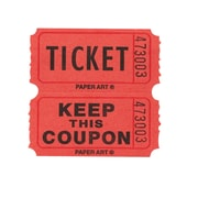 Creative Converting Ticket Roll - 50/50 Red/Bl/Or/Gr 4 ct (132502)