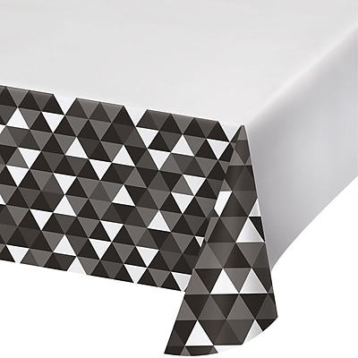 Celebrations Black Fractal Plastic Tablecloth (324455)