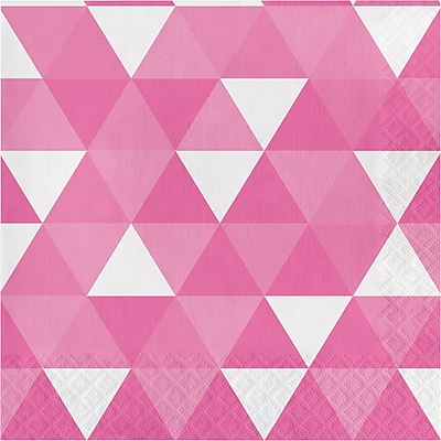 Celebrations Candy Pink Fractal Napkins 16 pk (319979)