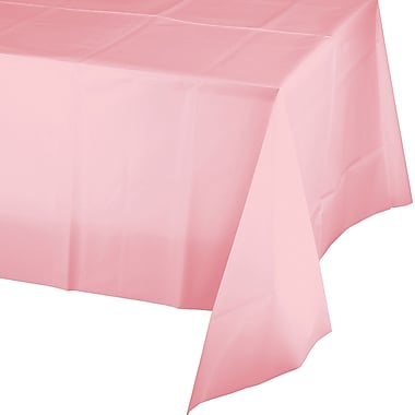 Touch of Color Classic Pink Plastic Tablecloth (014016B)