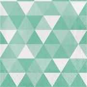 Celebrations Fresh Mint Green Fractal Napkins 16 pk (324472)