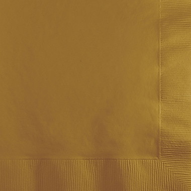 Touch of Color Glittering Gold Beverage Napkins 1200 ct 200 pk (253276)