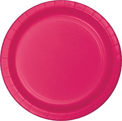 Celebrations Hot Magenta Pink Paper Plates 8 pk (553277)
