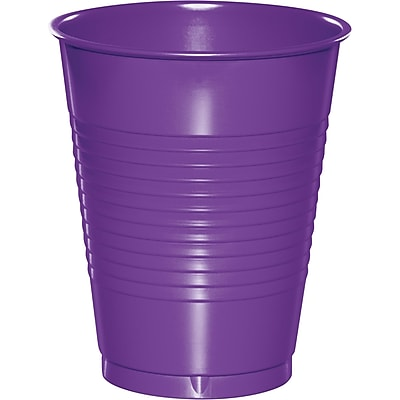 Touch of Color Amethyst Purple Plastic Cups 20 pk (318922) 24008298