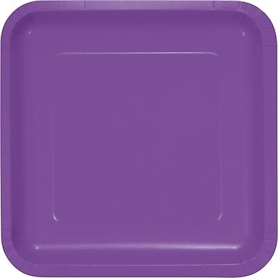 Touch of Color Amethyst Purple Paper Plates 18 pk (318925)