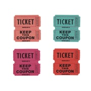 Creative Converting Ticket Roll - 50/50 Pnk/Peach/Red/Gr 20 ct (132504)