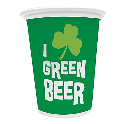 Creative Converting Green Beer 16 oz Plastic Cup 8 pk (054233)