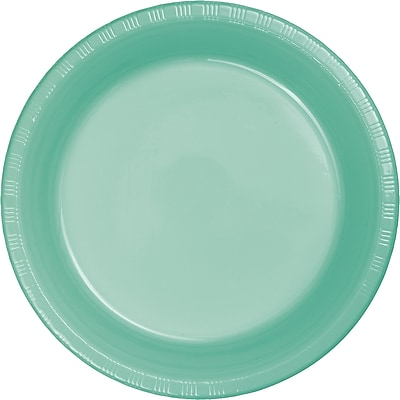 Touch of Color Fresh Mint Green Plastic Banquet Plates 20 pk (318880)