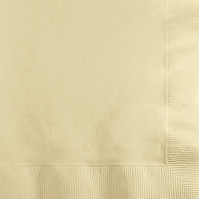 Touch of Color Ivory Beverage Napkins 3 ply 50 pk (57161B)
