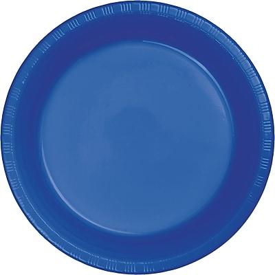 Touch of Color Cobalt Blue Plastic Dessert Plates 50 pk (319035)