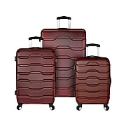 Traveler's Choice Omni Plastic 3-Piece Luggage Set, Brown (EL09075R)