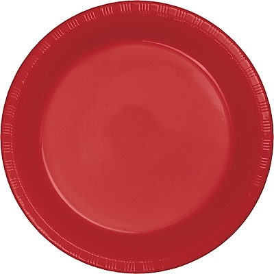 Touch of Color Classic Red Plastic Banquet Plates 50 pk (28103131B)