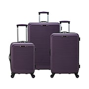 Traveler's Choice Elite Plastic 3-Piece Luggage Set, Purple (EL09110L)